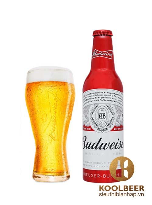 Bia Mỹ Nhập Khẩu Budweiser 5% – Chai Nhôm 335ml – Thùng 24 Chai