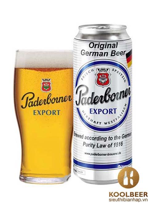 Bia Paderborner 5,5% - Thùng 24 Lon 500ml - Siêu thị bia nhập HCM