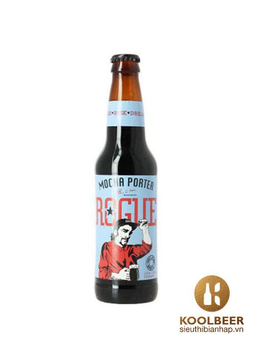 Bia Rogue Mocha Porter 5,6% - Thùng 24 Chai 330ml -Siêu thị bia nhập HCM