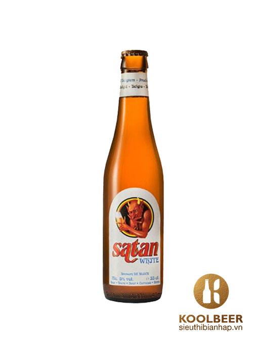Bia Satan White 5% - Bia Bỉ nhập khẩu tại HCM