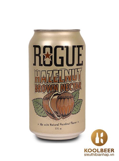 Bia Rogue Hazelnut Brown Nectar 5.6% – Lon 355ml - Siêu thị bia nhập khẩu HCM