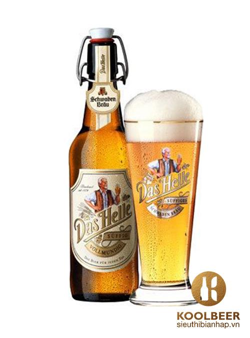 Bia Schwaben Bräu Das Helle 5% - Bia Đức nhập khẩu TPHCM