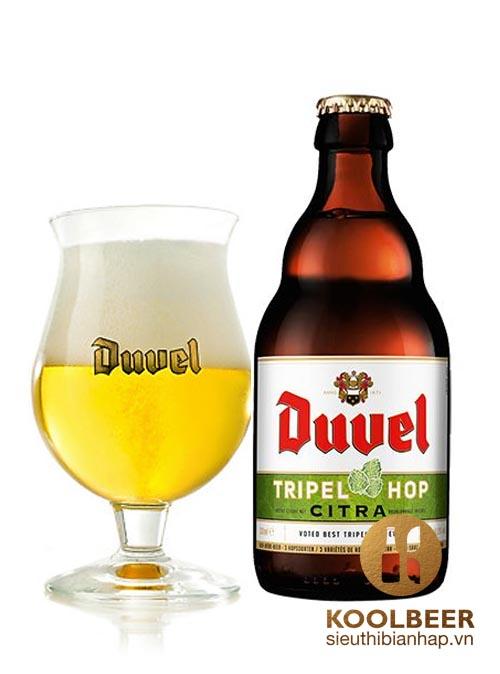 Bia Duvel Triple Hop Citra 9.5% - Chai 330ml - Thùng 12 Chai