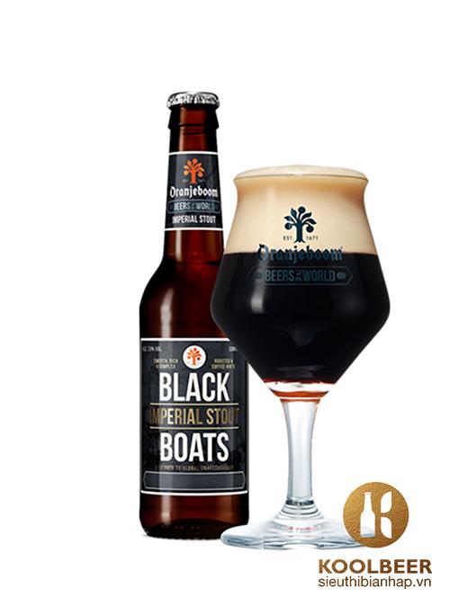 Bia Oranjeboom Black Boats Imperial Stout 7.5%- Bia nhập khẩu Hà Lan TPHCM