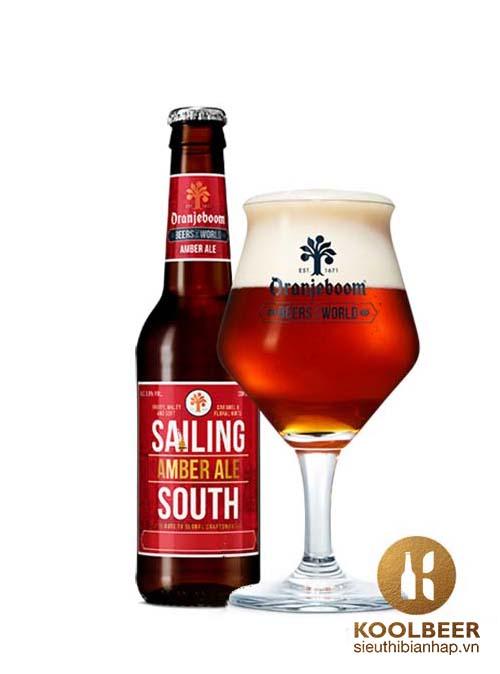 Bia Oranjeboom Sailing South Amber Ale 5.9% - Chai 330ml -Siêu thị bia nhập khẩu HCM