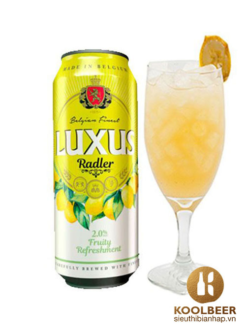 Bia Luxus Radler 2.1% Bia trái cây đến từ Bỉ - Bia nhập khẩu HCM