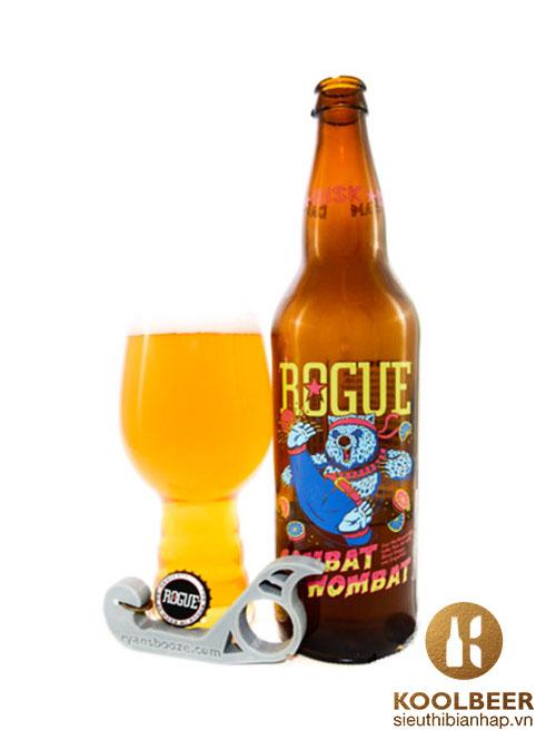 Bia Rogue Combat Wombat 7.2% - Chai 650ml- Siêu thị bia nhập HCM