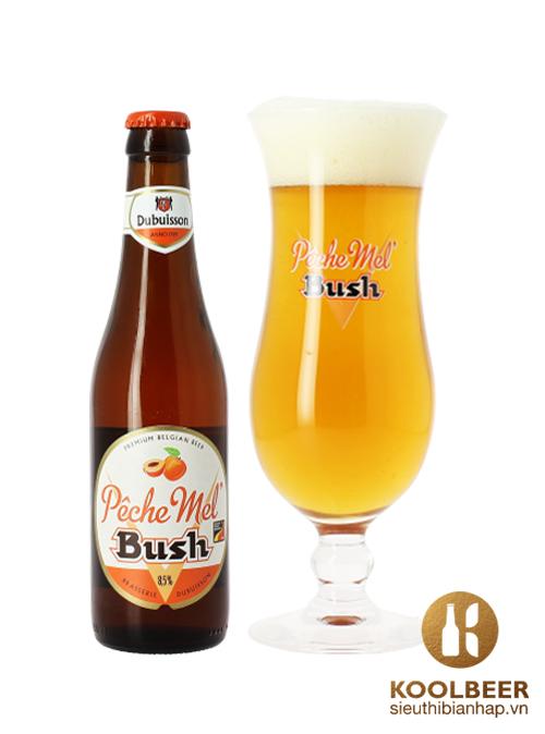 Bia-Bush-Peche-Mel-8.5-Chai-330ml-Thung-24-Chai