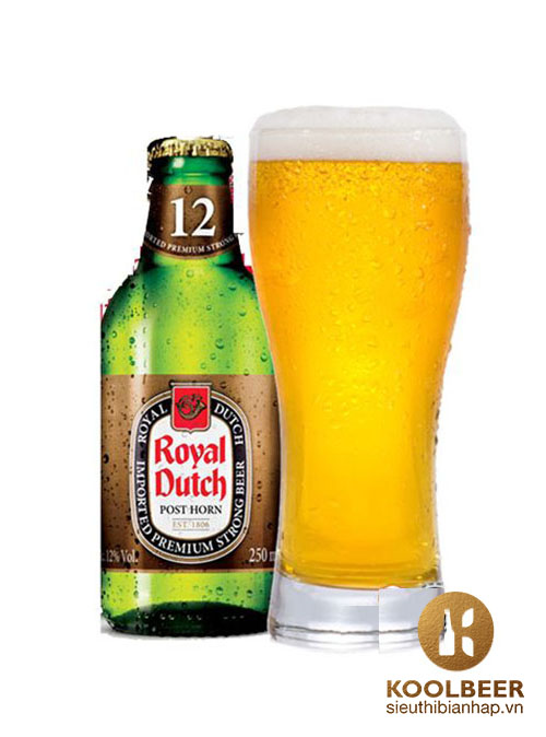 Bia Royal Dutch Gold Super Strong 12% – Thùng 20 Chai 250ml - Siêu thị bia nhập HCM