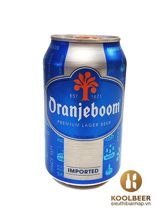 Bia Oranjeboom Premium Lager Imported Qùa Tặng 5% – Lon 330ml - Bia Hà Lan