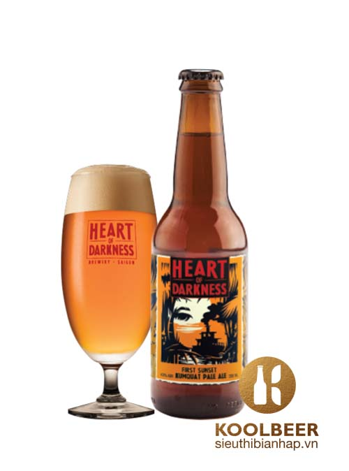 Bia Thủ Công Heart Of Darkness First Sunset Kumquat Pale Ale 4.5% - Chai 330ml