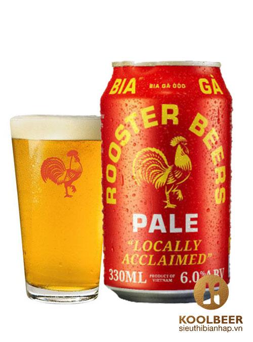 Bia Rooster Pale 6% - Thùng 24 Lon 330ml - Siêu thị bia nhập HCM