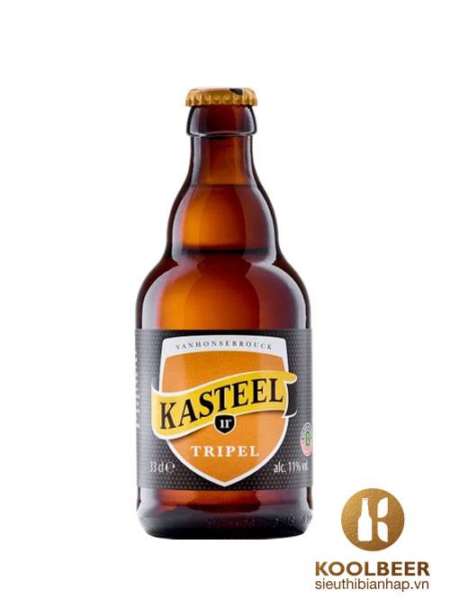 Bia Kasteel Triple 11% - Thùng 24 chai 330ml