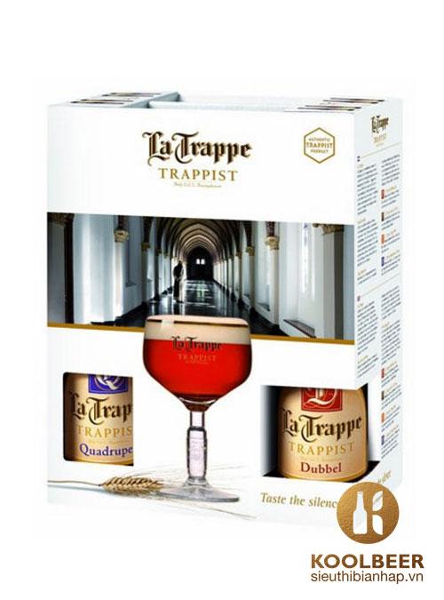 Bia La Trappe 8% quà tặng 4 chai
