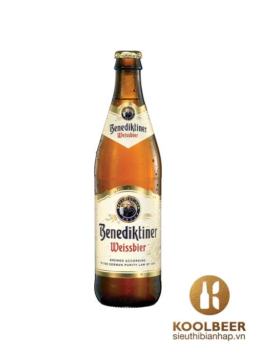 Bia Benediktiner 5,4% - Chai 500ml - Bia Tươi Đức Cao Cấp